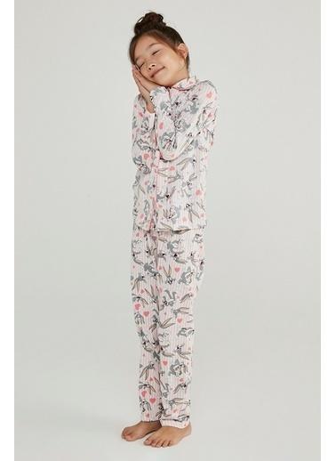 Penti Kız Çocuk Gül Kurusu Pink Bugs 2'li Pijama Takım PNXA87WH20SK Pembe